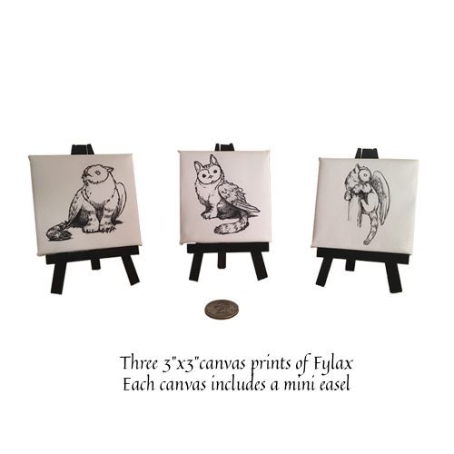 Fylax Owl Griffin Mini Canvas Prints