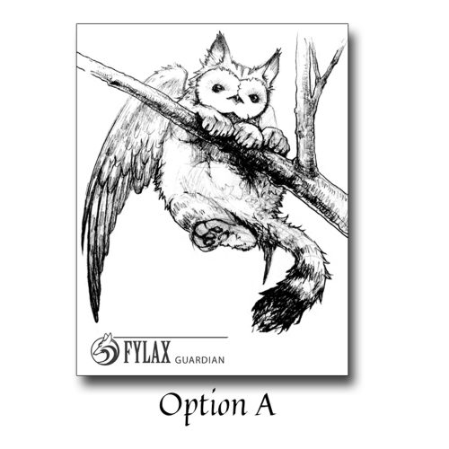 Fylax Owl Griffin On Tree - Sketch A