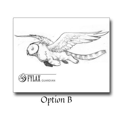 Fylax Owl Griffin Soaring - Sketch B