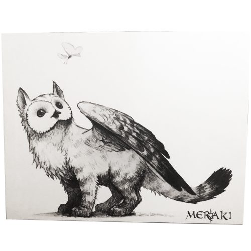 Fylax Canvas - Owl Griffen Art mounted wall hanging