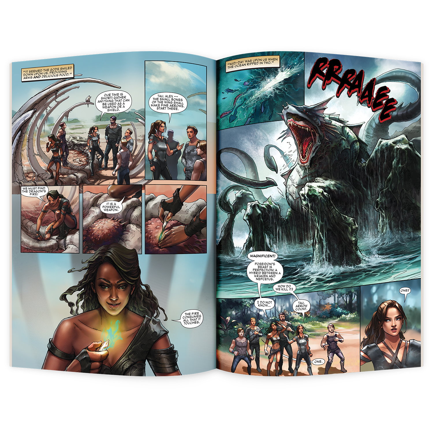 MERAKI Comic Book Inside Pages of Issue 1